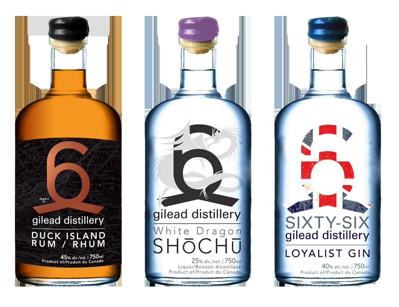 66 Gilead Distilleries - Bottle Designs