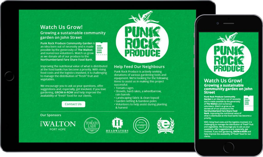 Punk Rock Produce - Website