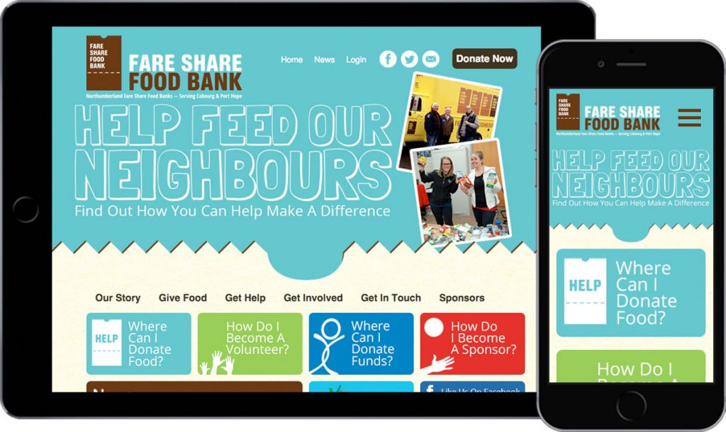 Northumberland Fare Share Food Bank - Website