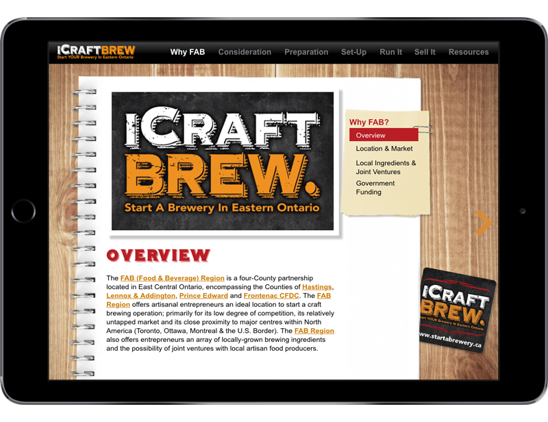 iCraft Brew - App & Collateral