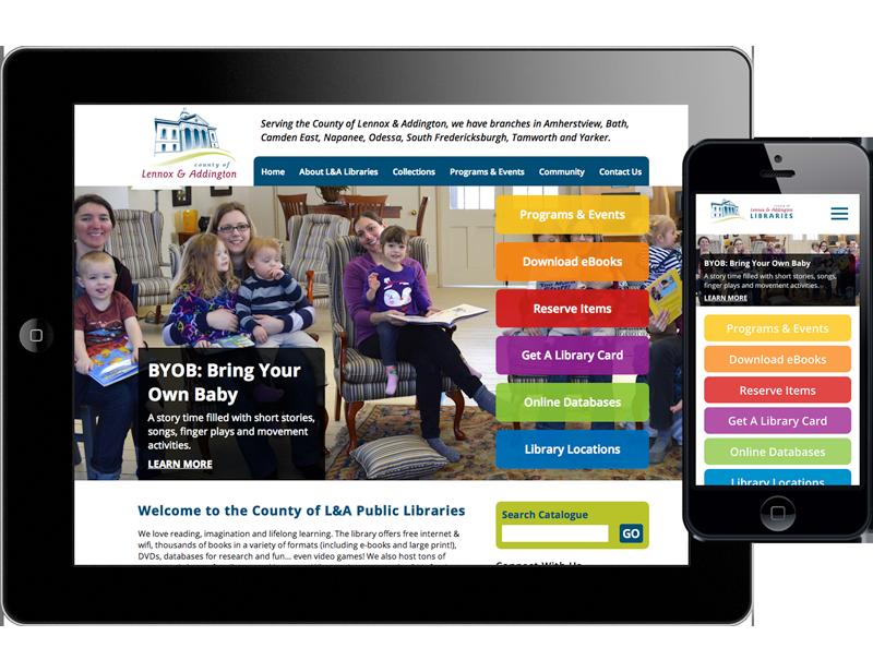 Lennox & Addington - Libraries - Website