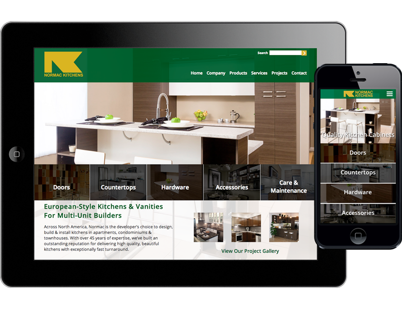 Normac Kitchens - Website