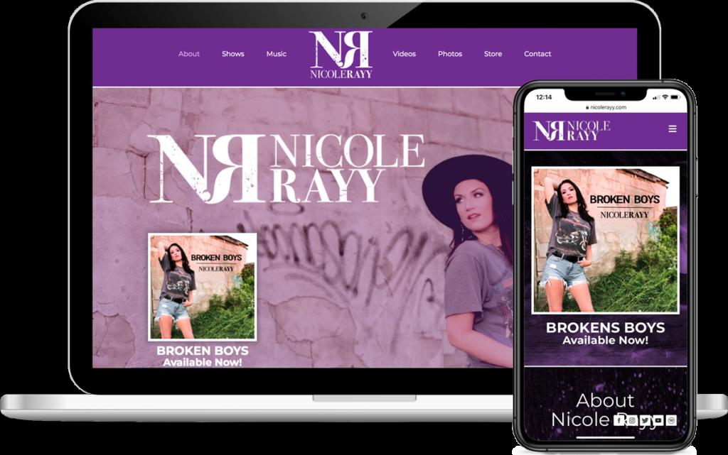 Nicole Rayy Responsive Website