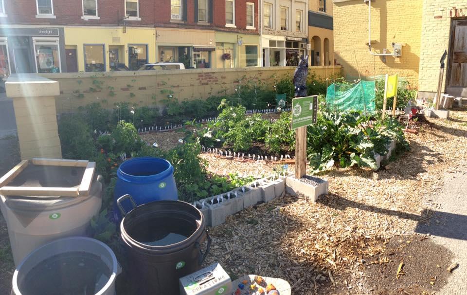 Original John Street garden location